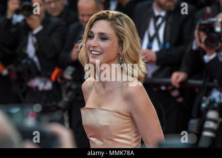 Cannes, France. 11th May 2018.  Julie Gayet attends the screening of 'Ash Is The Purest White (Jiang Hu Er Nv)' during the 71st annual Cannes Film Festival at Palais des Festivals on May 11, 2018 in Cannes, France - Stock Photo