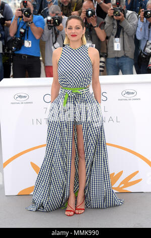 Cannes, France. 12th May, 2018. 71st Cannes Film Festival 2018, Photocall film 'Gueule d'ange'. Pictured: Marion Cotillard Credit: Independent Photo Agency/Alamy Live News - Stock Photo