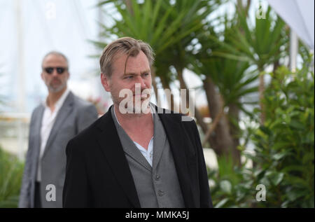 Cannes, France. 12th May 2018. Christopher Nolan attends a photocall during the 71st Cannes film festival. Credit: Idealink Photography/Alamy Live News Credit: Idealink Photography/Alamy Live News - Stock Photo