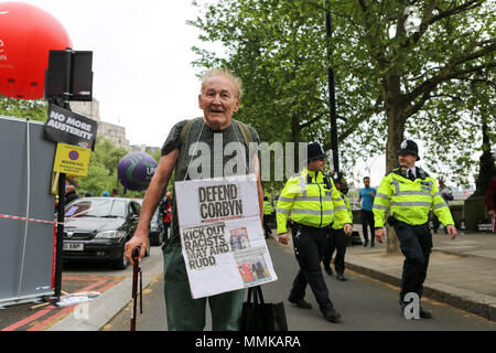 London, UK. 12th May, 2018. The TUC, Trades Union Congress, march and rally from Victoria Embankment. Penelope Barritt/Alamy Live News - Stock Photo