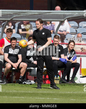 Dens Park, Dundee, UK. 12th May, 2018. Scottish Premier League football, Dundee versus Partick Thistle; Partick Thistle manager Alan Archibald Credit: Action Plus Sports/Alamy Live News - Stock Photo