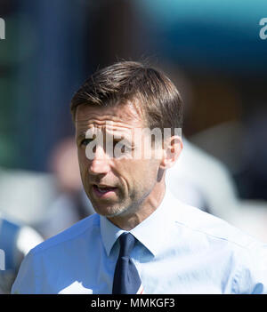 Dens Park, Dundee, UK. 12th May, 2018. Scottish Premier League football, Dundee versus Partick Thistle; Dundee manager Neil McCann Credit: Action Plus Sports/Alamy Live News - Stock Photo