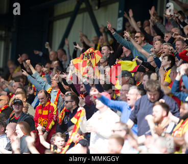 Dens Park, Dundee, UK. 12th May, 2018. Scottish Premier League football, Dundee versus Partick Thistle; Partick Thistle fans Credit: Action Plus Sports/Alamy Live News - Stock Photo