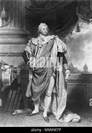 by James Ward, after  Sir Martin Archer Shee, mezzotint, 1801 William IV by Shee - Stock Photo