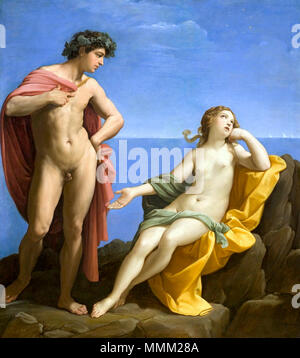 English: Bacchus and Ariadne . between 1619 and 1620. Bacchus and Ariadne by Guido Reni - Stock Photo