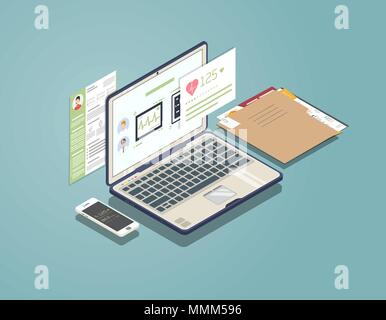 Medical laptop concept - Stock Photo