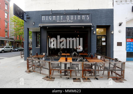 Mighty Quinn's Barbeque, 103 Second Ave, New York, NY - Stock Photo
