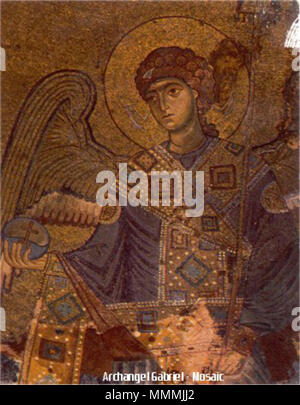 Archangel Gabriel - Gelati Monastery Byzantine Mosaic (circa