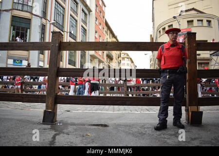 People enjoying the festival of San Fermin - Stock Photo