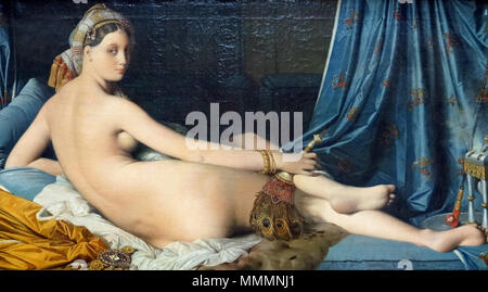 . Grande Odalisque, is an oil painting of 1814 by Jean Auguste Dominique Ingres. The painting was commissioned by Napoleon's sister, Queen Caroline Murat of Naples. My photos are FREE to use, just give me credit and it would be nice if you let me know, thanks.  . 1814. Dennis Jarvis from Halifax, Canada France-003335 - Grande Odalisque (16051027150) - Stock Photo