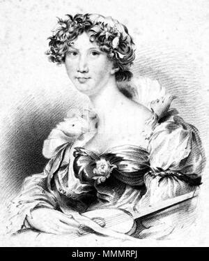 . English: English novelist Anna Maria Porter (1780-1832).  . 1823. J. Thomson 47 Anna Maria Porter - Stock Photo
