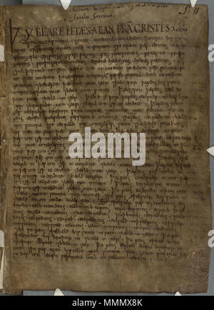 Page From The Anglo Saxon Chronicle Stock Photo 56681290 Alamy