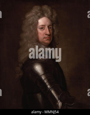 Portrait of Charles Mordaunt, 3rd Earl of Peterborough. 1715. Charles Mordaunt, 3rd Earl of Peterborough by Sir Godfrey Kneller, Bt - Stock Photo