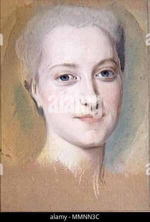 English: Princess Maria Christina of Saxony (1735–1782) Français: Princesse Marie-Christine de Saxe (1735–1782) ???????: ????????? ????? ???????? ?????????? (1735–1782) .  English: A preparatory study for the portrait (lost) exhibited at the Salon of 1763 Français: Une étude préparatoire pour le portrait (perdu) exposé au Salon de 1763 ???????: ???????????????? ???? ? ???????? (??????), ????????????? ? ?????? 1763 ???? . Maurice Quentin de La Tour, Princesse Marie-Christine de Saxe (c. 1762-1763) - Stock Photo