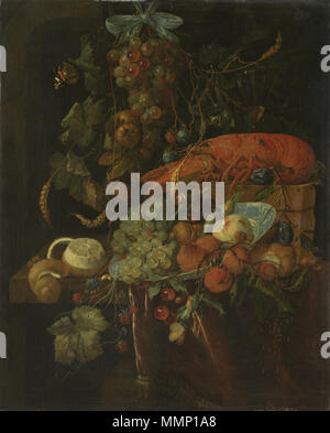 Still Life with Fruit and Lobster. between 1640 and 1700. 29 After Jan Davidsz. de Heem 001 - Stock Photo
