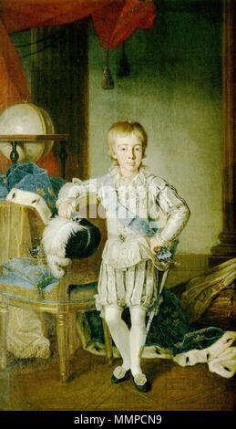 . Portrait of Gustaf IV Adolf of Sweden (1778-1837)  . 1785. Gustav Adolf Vierte Schweden Kind - Stock Photo