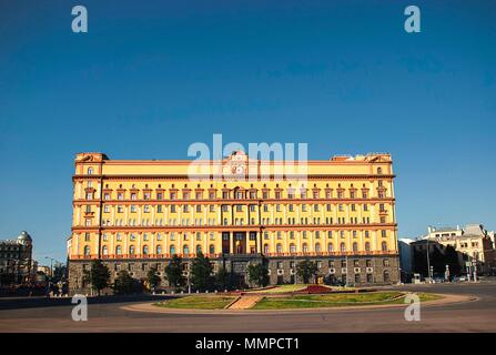 The Lubyanka building in central Moscow - Stock Photo