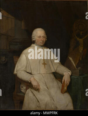 Portrait of Gregorius Thiels, abbot of Averbode. circa 1791-1810. Andreas Bernardus de Quertenmont - Portrait of Gregorius Thiels, abbot of Averbode - Stock Photo