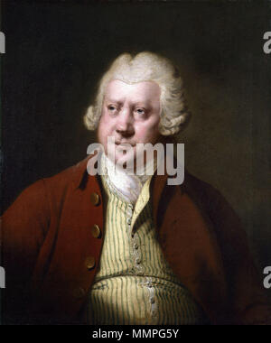 . Portrait of Sir Richard Arkwright (1732–1792)  Sir Richard Arkwright. circa 1789–1790. Sir Richard Arkwright by Joseph Wright - Stock Photo