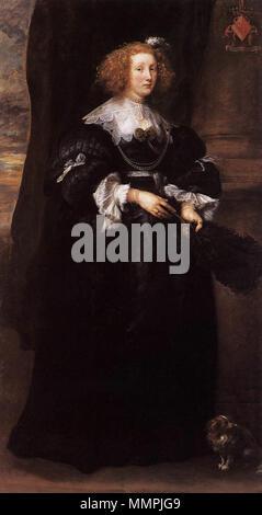 Marie de Raet. 1631. Anthony van Dyck - Marie de Raet - WGA07399 - Stock Photo