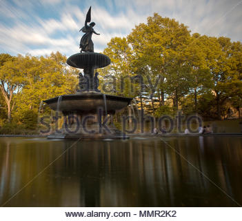 Bethesda Terrace and Fountain, New York City's Central Park - Stock Photo