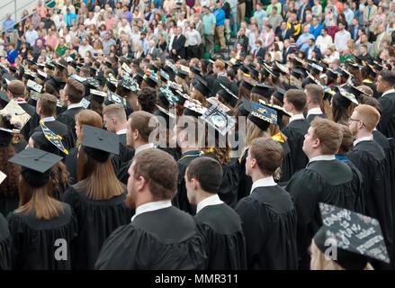 Students at the Slippery Rock University graduation on 5-12-2018 - Stock Photo
