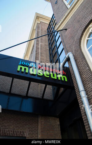 Entrance Of The Jewish Historical Museum Amsterdam The Netherlands - Stock Photo