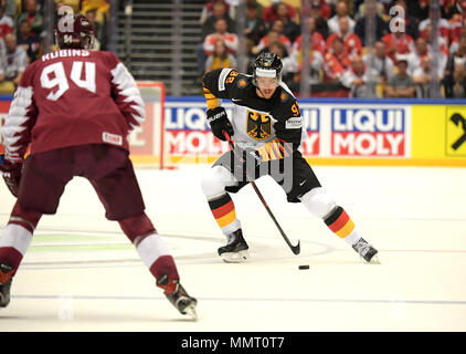 Herning, Denmark.. 12th May, 2018. Marcel Noebels from Team Germany during the match between Latvia and Germany on 12.05.2018 in Herning, Denmark. (Photo by Marco Leipold/City-Press GbR) | usage worldwide Credit: dpa picture alliance/Alamy Live News - Stock Photo