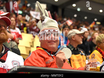 Herning, Denmark.. 12th May, 2018. Fan of Team Germany during the match between Latvia and Germany on 12.05.2018 in Herning, Denmark. (Photo by Marco Leipold/City-Press GbR) | usage worldwide Credit: dpa picture alliance/Alamy Live News - Stock Photo
