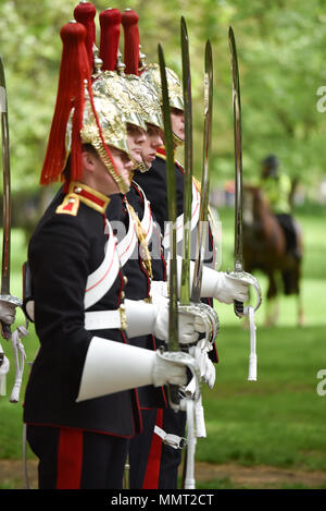 Hyde Park, London, UK. 13th May 2018. The Combined Cavalry Old Comrades Association 94th Annual Parade. Credit: Matthew Chattle/Alamy Live News - Stock Photo