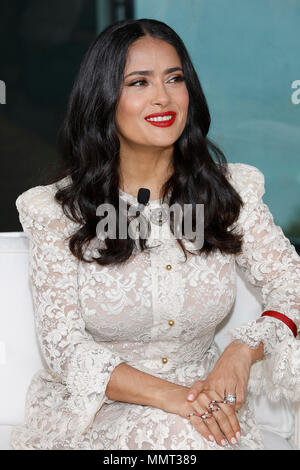 Cannes, France. 13th May, 2018. Salma Hayek attends Kering Women in Motion photocall during the 71st annual Cannes Film Festival at Majestic Hotel on on May 13, 2018 in Cannes, France. Credit: John Rasimus/Media Punch ***FRANCE, SWEDEN, NORWAY, DENARK, FINLAND, USA, CZECH REPUBLIC, SOUTH AMERICA ONLY*** Credit: MediaPunch Inc/Alamy Live News - Stock Photo