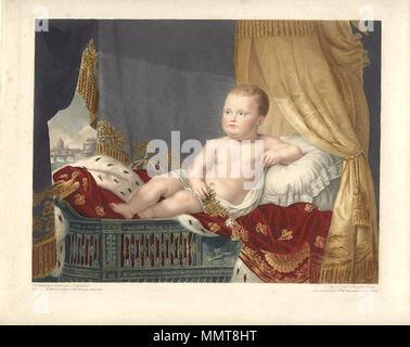 ". [""Napoleon II.""], 1812 (with Rome in the background)  . 1812. J L Benoist Napoleon II - Stock Photo"