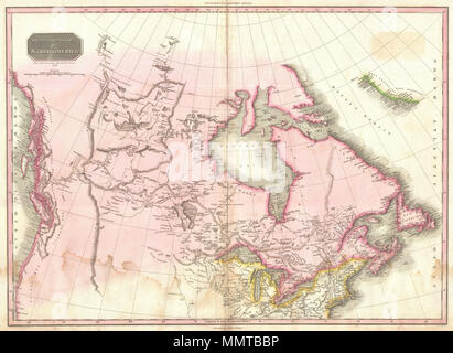 A fascinating map of North America, from the Russian settlements in ...