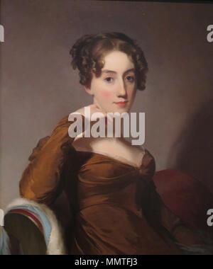 . Portrait of Elizabeth McEuen Smith  . 1823. Oil on canvas portrait of Elizabeth McEuen Smith by Thomas Sully, 1823, Honolulu Academy of Arts - Stock Photo
