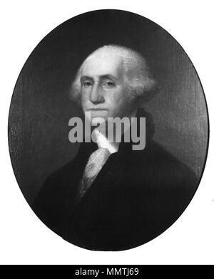 George Washington (after Gilbert Stuart). circa 1860. Brooklyn Museum - George Washington (after Gilbert Stuart) - James Frothingham - overall - Stock Photo