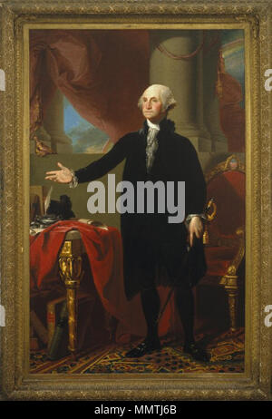 George Washington. circa 1796-97. Brooklyn Museum - George Washington - Gilbert Stuart - overall - Stock Photo