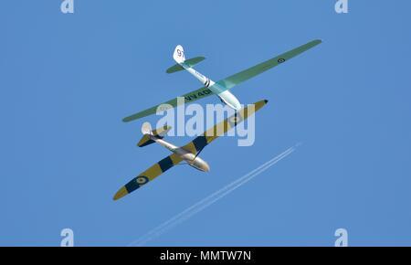 Eon Olympia VV400 & Radar Kite gliders at Old Warden Aerodrome in Bedfordshire