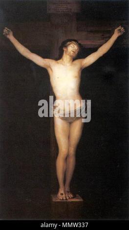 . Cristo crucificado  Christ on the Cross. 1780. Christus am Kreuz, 1780 - Stock Photo