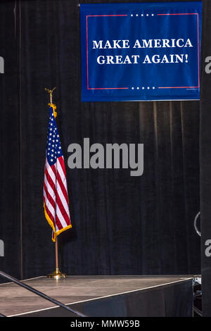 'MAKE AMERICA GREAT AGAIN' (MAGA) BANNER for President Trump  at a 2020 Presidential Rally In Phoenix, Arizona - AUGUST 22, 2017 - Stock Photo