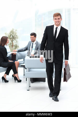 portrait in full growth. an experienced attorney out of the office. - Stock Photo