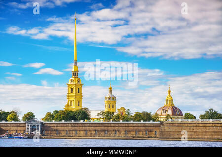 The Peter and Paul Fortress in St.Petersburg - Stock Photo