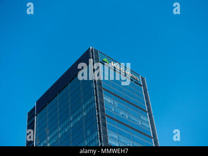 Regions tower in Indianapolis Indiana - Stock Photo