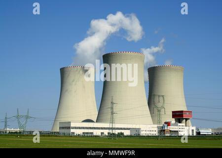 Nuclear power plant Temelin in the Czech Republic. - Stock Photo