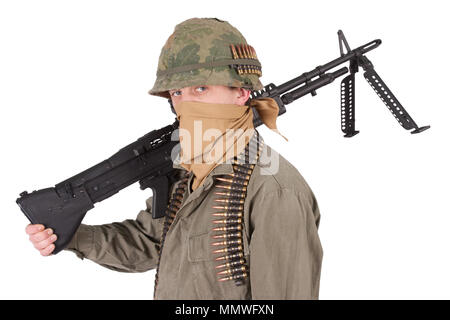 us army soldier vietnam war period - Stock Photo