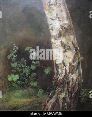 Study of the Lower Trunk of a Birch Tree. 1819. 'Study of a Birch Tree' by Johan Christian Dahl, Bergen Kunstmuseum