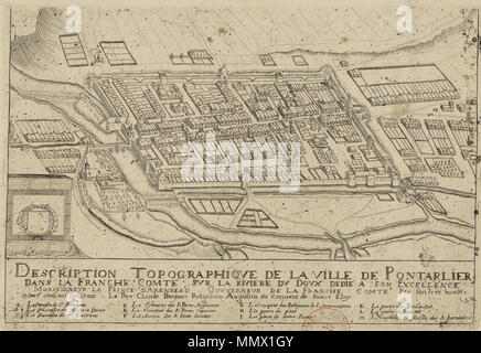 Description Topographique De La Ville De Pontarlier Par