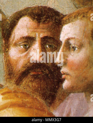 . detail  Distribution of Alms and Death of Ananias. circa 1424-1425.   Masaccio  (1401–1428)      Alternative names Birth name: Tommaso di Ser Giovanni di Simone  Description painter  Date of birth/death 21 December 1401 1428  Location of birth/death San Giovanni Valdarno Rome  Work location Florence  Authority control  : Q5811 VIAF:?7368513 ISNI:?0000 0001 2119 1860 ULAN:?500026649 LCCN:?n79006973 NLA:?35332383 WorldCat Distribution of Alms and Death of Ananias 12 - Stock Photo