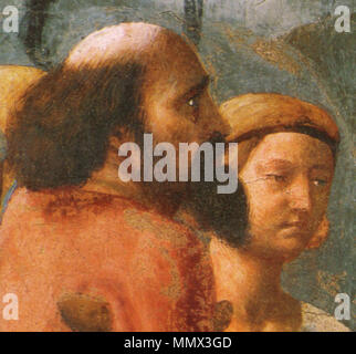 . detail  Distribution of Alms and Death of Ananias. circa 1424-1425.   Masaccio  (1401–1428)      Alternative names Birth name: Tommaso di Ser Giovanni di Simone  Description painter  Date of birth/death 21 December 1401 1428  Location of birth/death San Giovanni Valdarno Rome  Work location Florence  Authority control  : Q5811 VIAF:?7368513 ISNI:?0000 0001 2119 1860 ULAN:?500026649 LCCN:?n79006973 NLA:?35332383 WorldCat Distribution of Alms and Death of Ananias 14 - Stock Photo