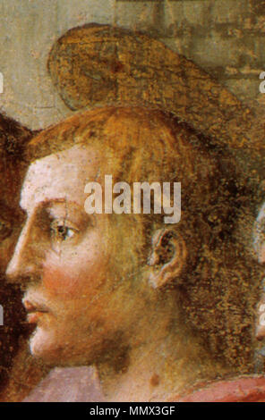 . detail  Distribution of Alms and Death of Ananias. circa 1424-1425.   Masaccio  (1401–1428)      Alternative names Birth name: Tommaso di Ser Giovanni di Simone  Description painter  Date of birth/death 21 December 1401 1428  Location of birth/death San Giovanni Valdarno Rome  Work location Florence  Authority control  : Q5811 VIAF:?7368513 ISNI:?0000 0001 2119 1860 ULAN:?500026649 LCCN:?n79006973 NLA:?35332383 WorldCat Distribution of Alms and Death of Ananias 16 - Stock Photo