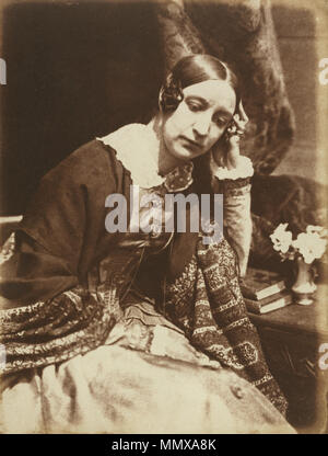 . English: Calotype photograph of Elizabeth Rigby (later Elizabeth, Lady Eastlake).  [Miss Elizabeth Rigby]; Hill & Adamson, Scottish, active 1843 - 1848; 1844 - 1845; Salted paper print from a Calotype negative; Image: 21 x 15.9 cm (8 1/4 x 6 1/4 in.), Mount: 35.9 x 27.5 cm (14 1/8 x 10 13/16 in.); 84.XP.460.7 Elizabeth Eastlake c1847 - Stock Photo
